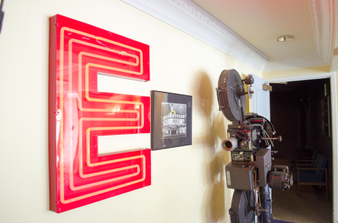 Restored E from Theatre Marquee